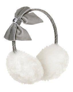 Gem Bow Faux Fur Earmuff