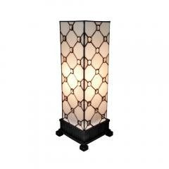 Lamp:Tiffany Style Table Lamp White Jewel 18""