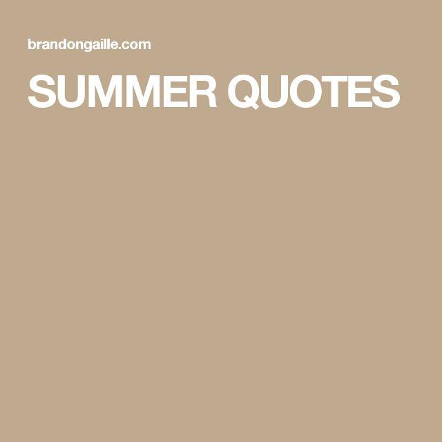 Die Besten 25+ Short Summer Quotes Ideen Auf Pinterest