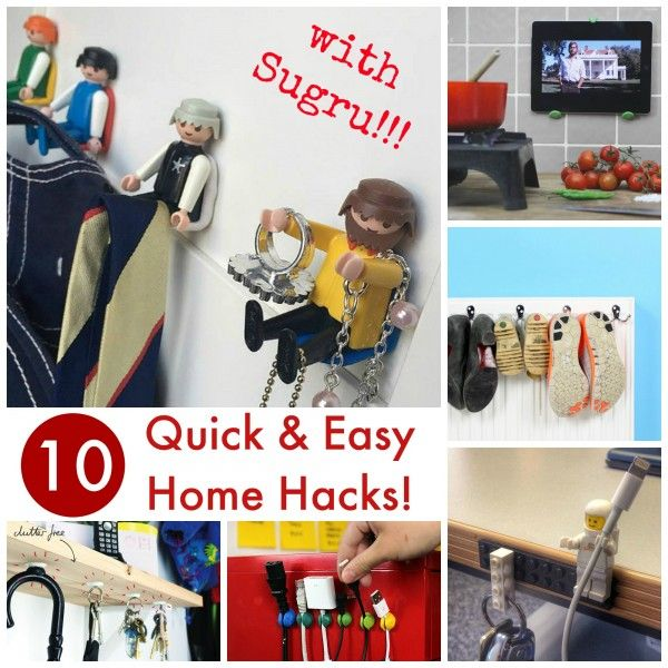 10 Fantastic Home Hacks made easy - no need for drilling, cutting or special skills. Just use Sugru with it's amazing properties
