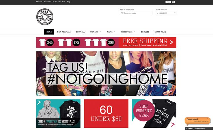 Not Going Home Clothing Online Shop by Liana Spiro Creative Clarity
