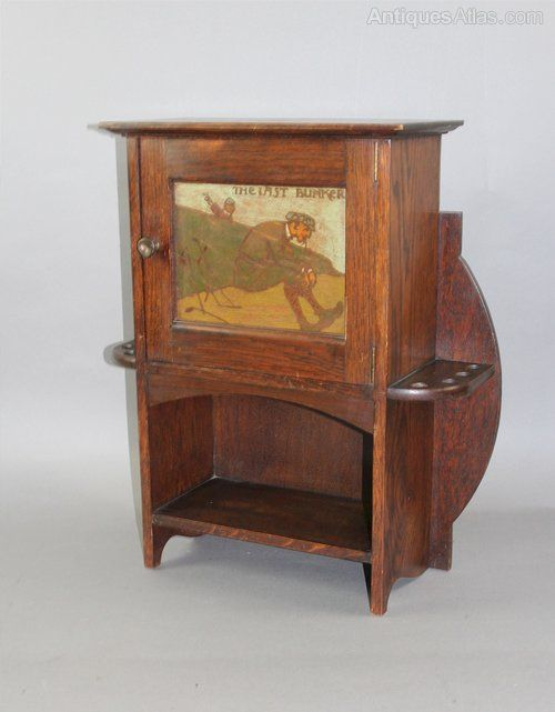 Arts And Crafts Oak Smokers Cabinet By Shapland - Antiques Atlas