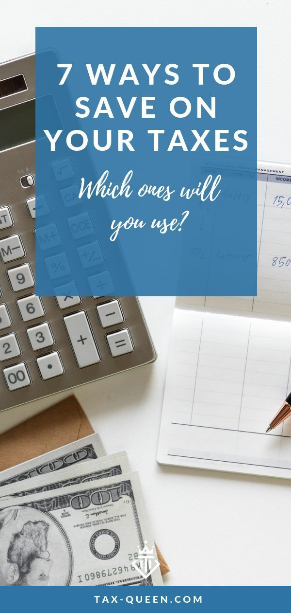 7 Ways To Save On Your Taxes In 2020 Small Business Tax