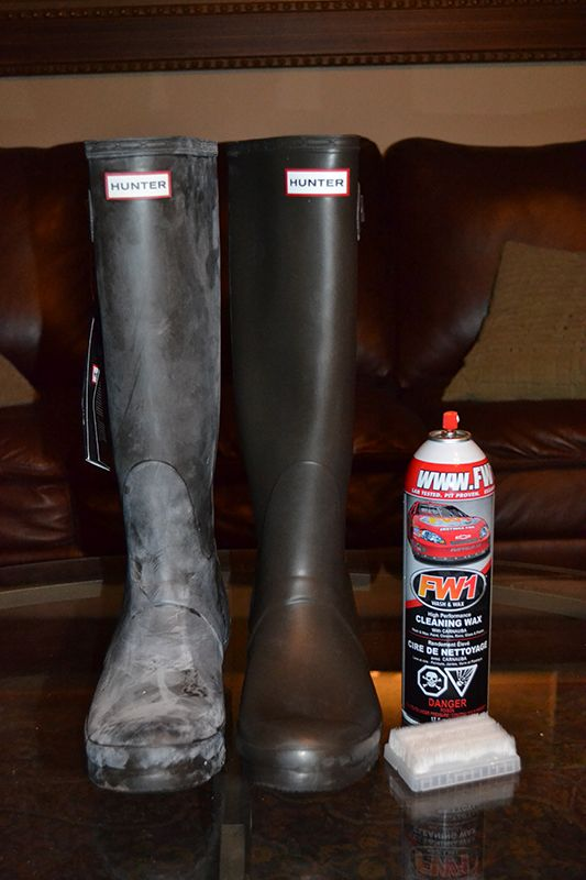 Alternative way to remove white film (bloom) from Hunter rubber boots-Updated