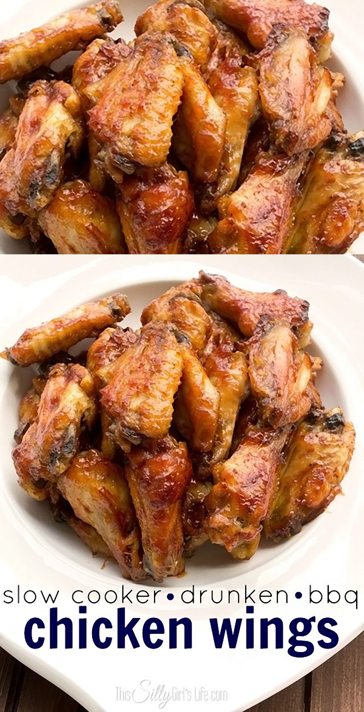 These wings are super moist and tender on the inside with a sticky bbq caramelized sauce.