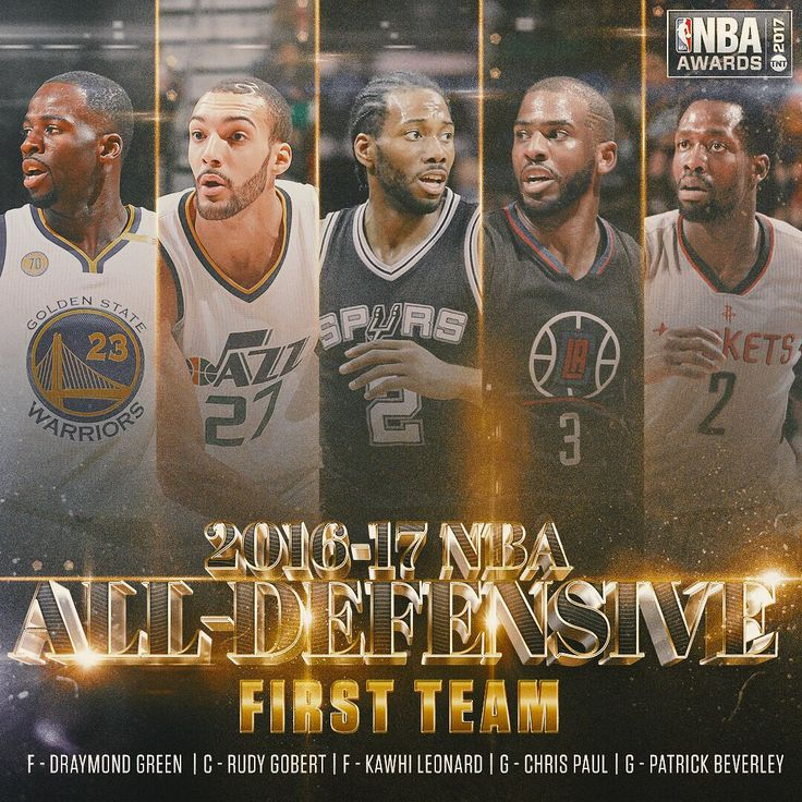 Swipe through to see who was selected for the NBA All-Defensive team and All-Rookie Team!