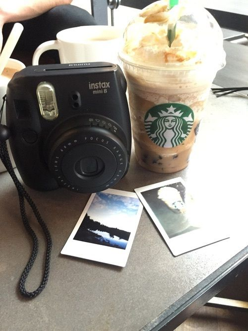 aesthetic, alternative, black, camera, grunge, instax, photos, starbucks