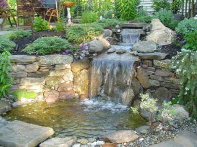 How to build a koi pond that is fed by a small creek for How to build a small koi pond