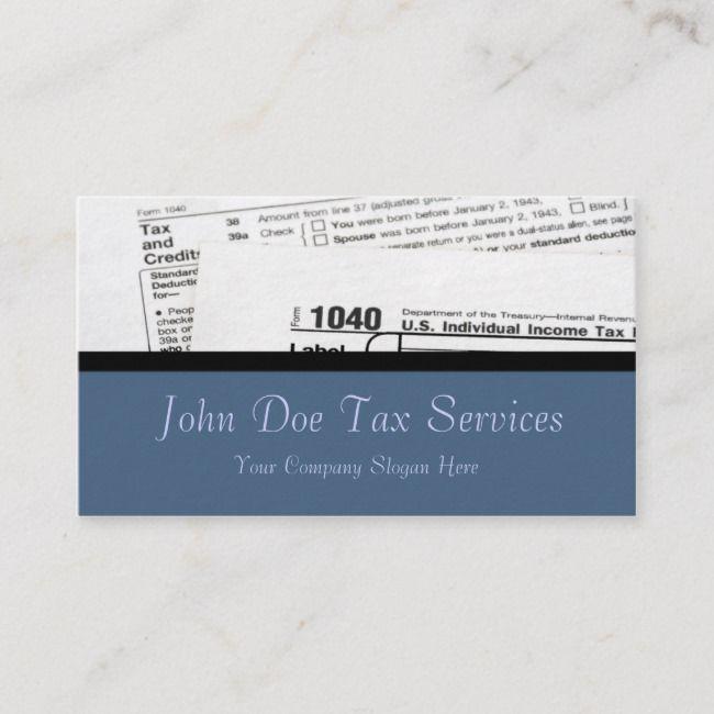 Tax Preparer Federal Tax Form Business Card Zazzle Com Tax