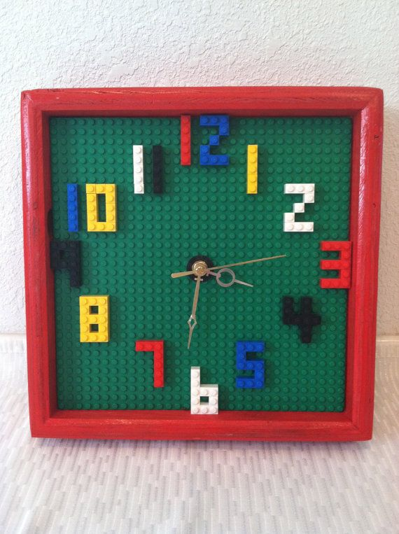 Lego Clock by WooderfulCreations on Etsy, $40.00