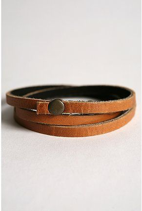 UO Leather Wrap Bracelet - Urban Outfitters