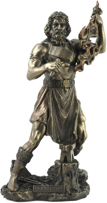Hephaestus, Greek God of Fire Statue Sculpture Figurine from the Greek and Roman Reproduction Art Sculpture Collection available at AllSculptures.com
