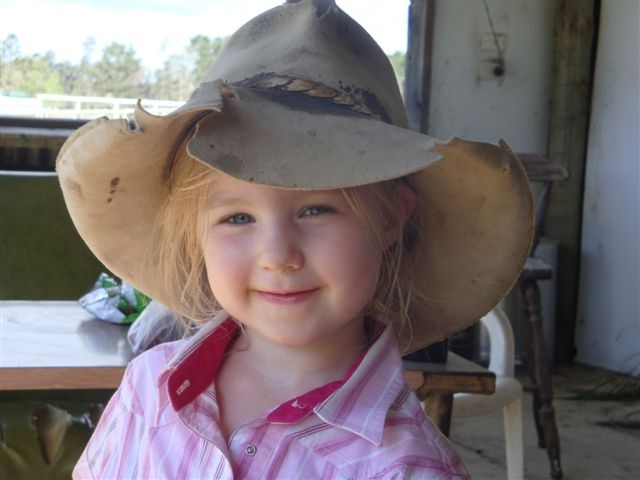 Girl in an Akubra - The Oaks NSW