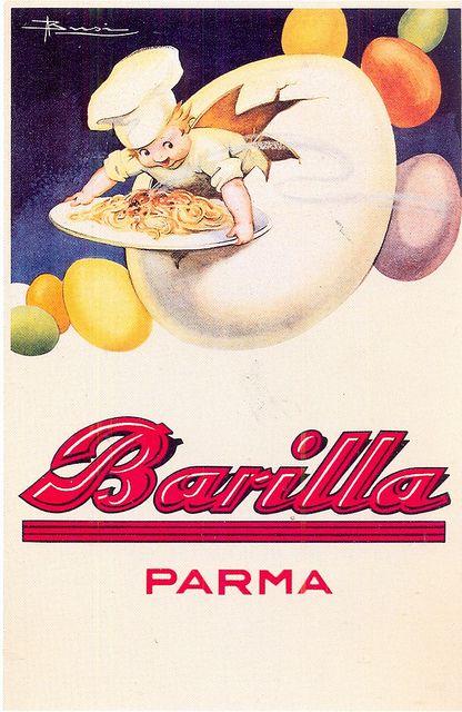 Vintage Italian Posters ~ Barilla #illustrator #Italian #posters - pasta - adv - 1931 by nobugiardo, via Flickr