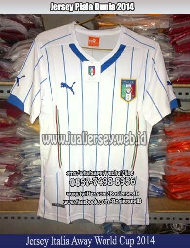 Jersey Italia Piala Dunia 2014 Away | Jersey Italia 2014 away WorldCup