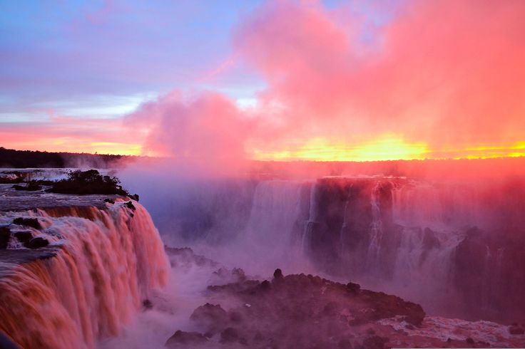 iguazu falls sunset - photo #7