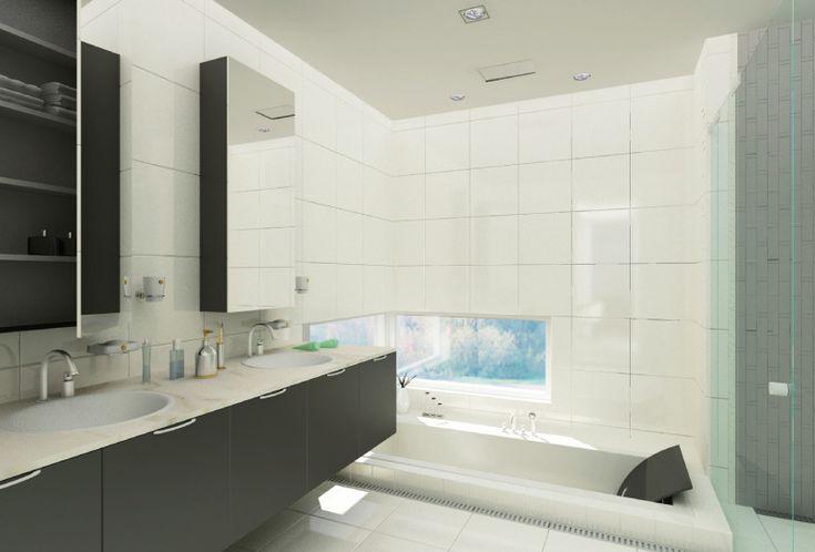 베르사체 라폴리움 타운하우스_Heehoon D&G  수납하고 정리하라  화장실은 적절한 수납과 함께 정리가 필요합니다. 다른 공간보다 작은 하나의 방이기 때문에 다양한 화장실 용품을 적절히 수납하지 않으면 복잡하고 지저분해지므로 먼저 용도에 따라 물품을 분류할 필요가 있습니다. 세면 용품은 화장실에서 지속적으로 사용하기 때문에 세면대, 샤워실, 욕조에서 쉽게 닿거나 잘 보이는 곳에 배치하여 최소한의 동선으로 활동 반경을 줄여 지저분해질 우려가 있는 공간을 감소시킵니다. 핸드타월, 바디타월, 등 물기를 닦기 위한 수건도 동선을 최소화하기 위해 가까운 곳에 수건걸이를 설치하여 화장실을 최대한 건조하게 유지합니다. 화장실 청소 도구 및 용품들은 눈에 띄지 않으면서도 보관하기 쉽게 수납장에 사용 빈도에 따라 순서에 알맞게 겹겹으로 정리하는 것이 좋습니다.