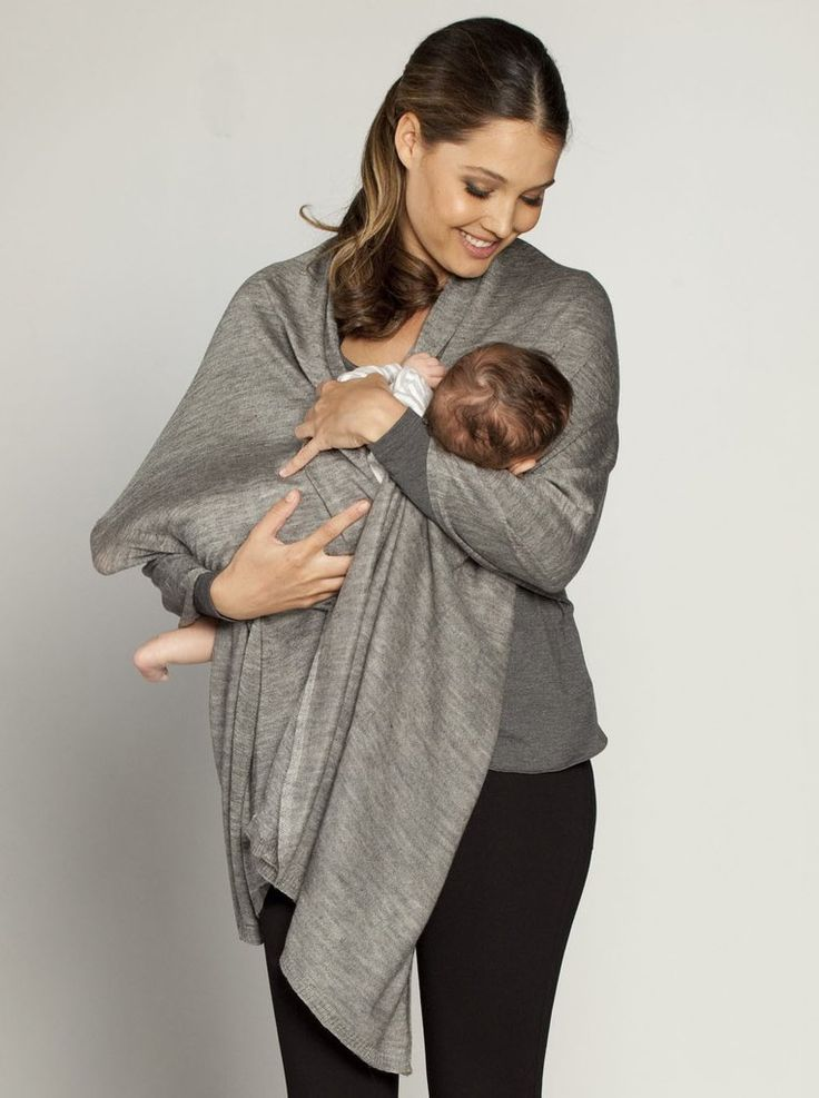 Angel Versatile Nursing Wrap, available in Taupe, Grey or White, $39.95, is a wool blend  poncho with buttons to ensure you breastfeed with ease wherever you are.