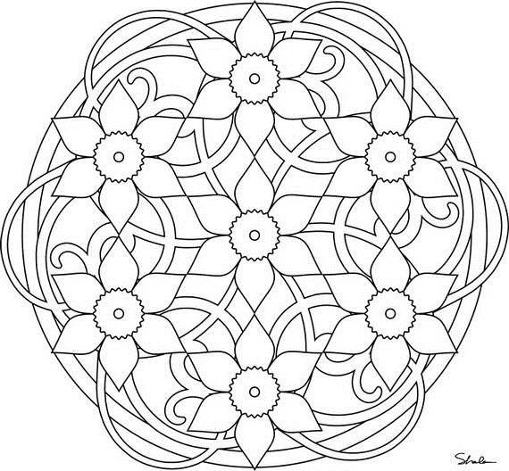 Daffodil Mandala By Shala