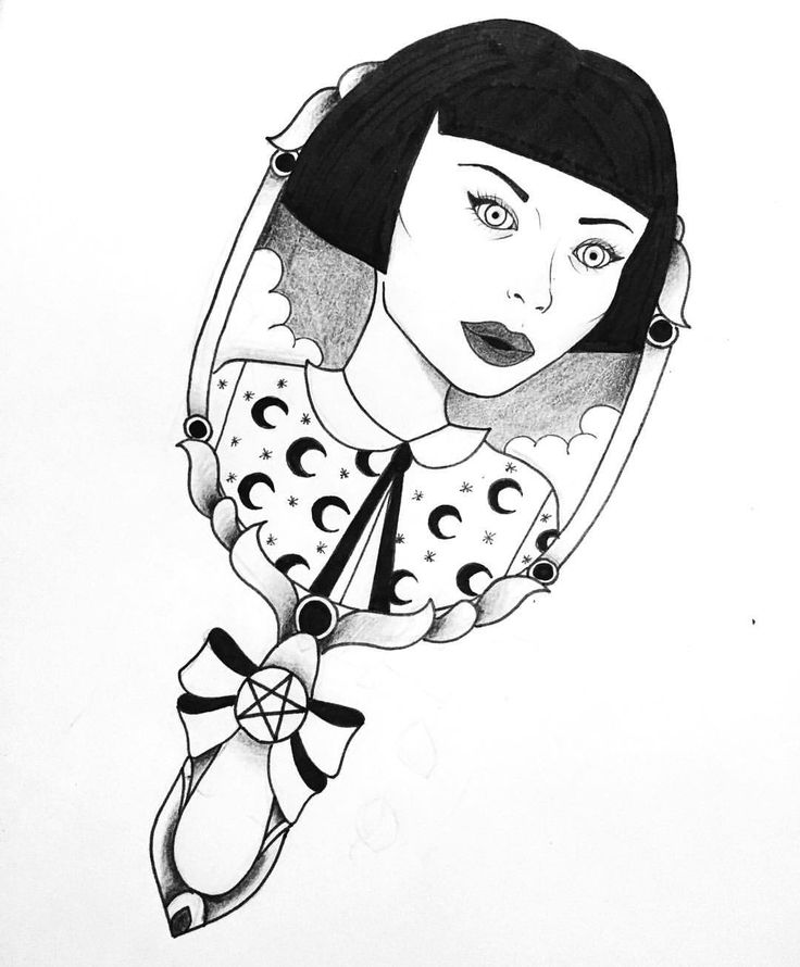 """Mi piace"": 314, commenti: 10 - Dora (@doratattoos) su Instagram: ""Creepy dool 💀 #creepy #horror #scary #girl #goth #gothic #witch #wicca #wiccac #mirror #tattoo…"""