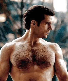 Henry's beautiful and hairy chest