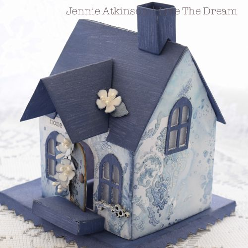 Live The Dream: Jennie Atkinson The Little Blue House Tim Holtz Die