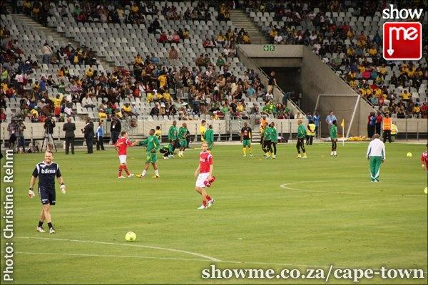 Bafana Bafana against Norway at the Cape Town Stadium
