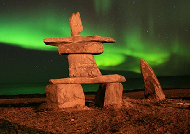 The mysterious stone figures known as Inukshuk can be found throughout far northern areas of Alaska, Canada, Siberia, and Greenland.