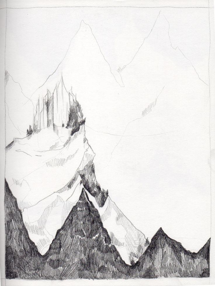 mountains castle https://www.behance.net/mgardela http://mgardela.blogspot.com