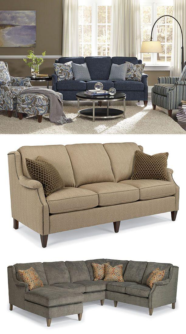 Zevon Sofa By Flexsteel Sofas We Love Pinterest Sofas
