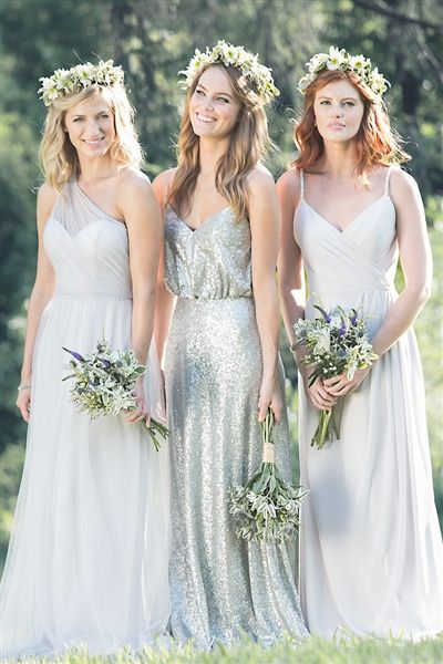 New sequin bridesmaid dress for Spring of 2016.  Bari Jay Bridesmaid Dress 1624. Love the mix and match styles.