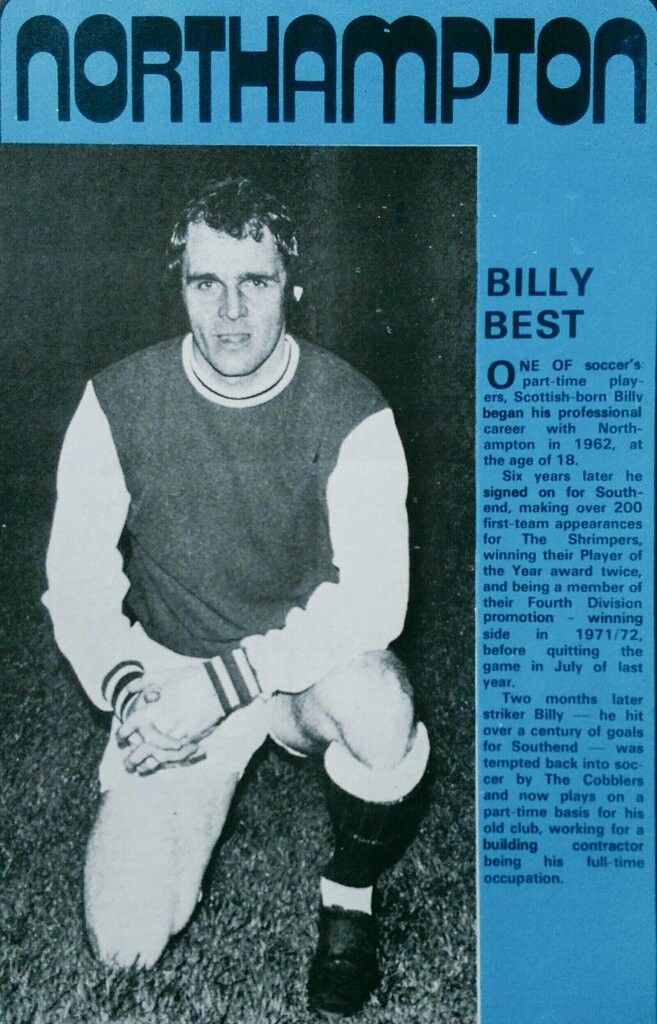 Billy Best of Northampton Town in 1968.