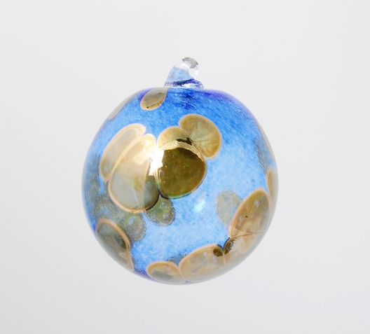 Glass ornament by Todd Safronovich (Edmonton, AB). Member of the Alberta Craft Council