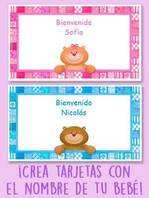 Crea tarjetas con nombres: http://www.tuparada.com/crear/