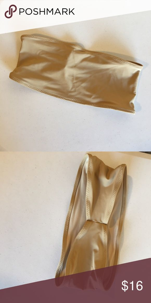 Nude bandeau swimsuit top Brand new no tags and fully lined. Does not match any of the other nudes in my closet. Mix and match this with different bottoms! Swim Bikinis