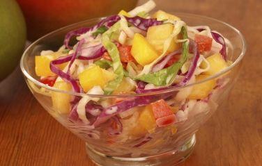 Sweet Mango Slaw -Get the recipe at http://mango.org/recipe/sweet-mango-slaw