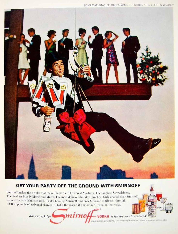 0 Sid Caesar  - 1966 Ad  Smirnoff Vodka