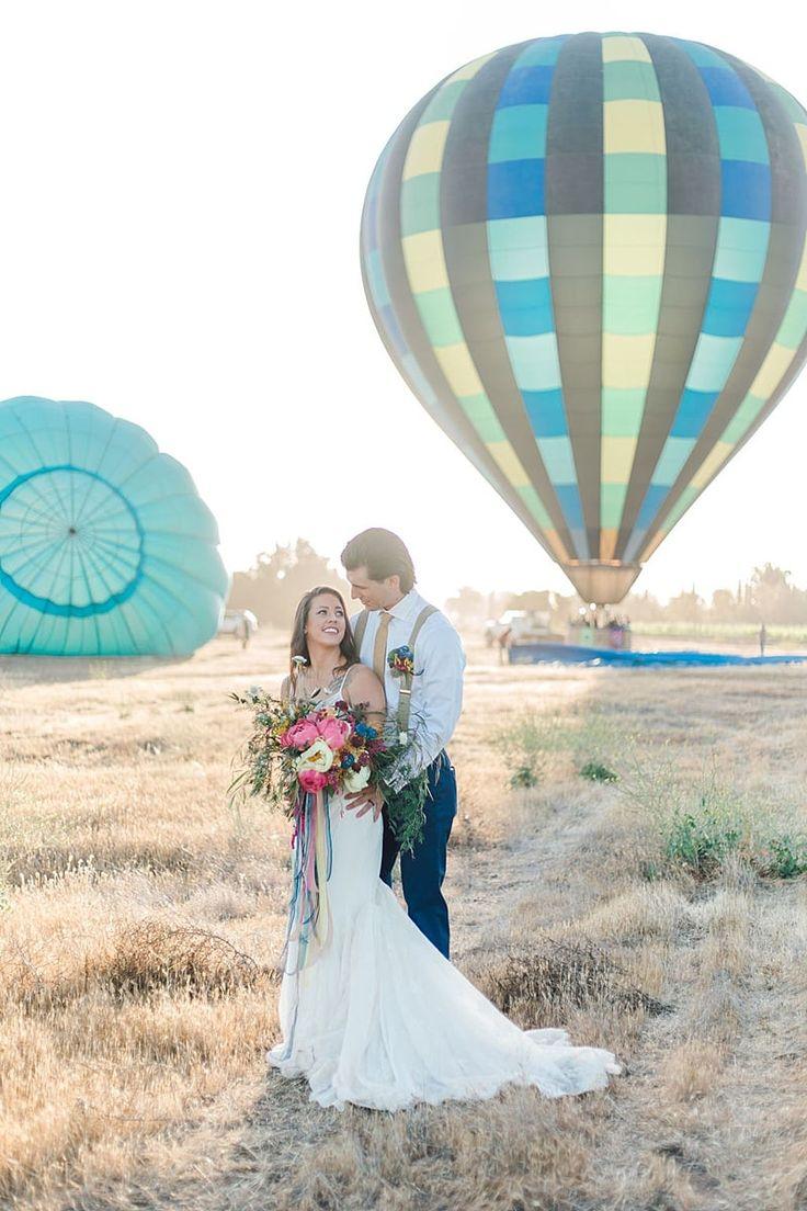Unique Sunrise Hot Air Balloon Elopement Inspiration