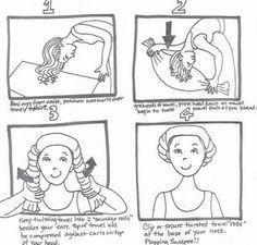 le plopping pour sécher les cheveux bouclés
