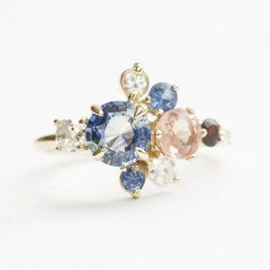 Family birthstone cluster - this is such a beautiful idea!