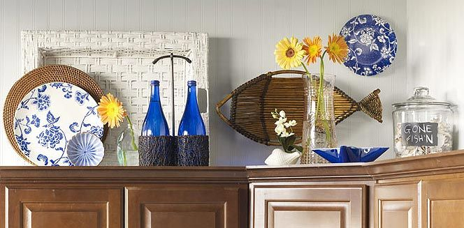 How to decorate your kitchen cabinets- great tips, tricks and tutorials for decorating your cabinets.
