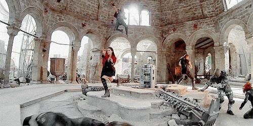 Wanda Maximoff, Thor Odinson, Clint Barton, Natasha Romanoff || Avengers: Age of Ultron || 500px × 250px || #animated #bts