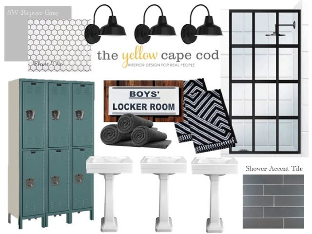 Boys Bathroom - Locker Room Style