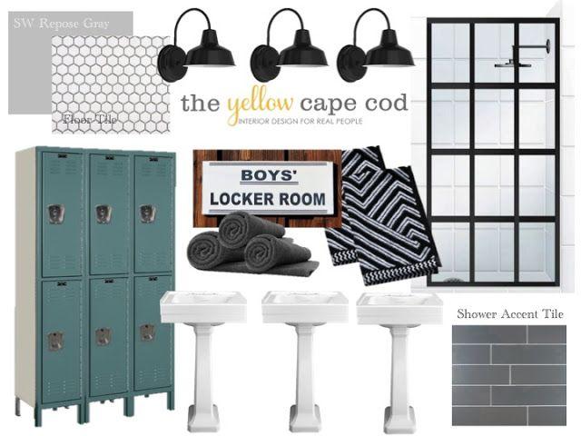 Boys Bathroom - Locker Room Style
