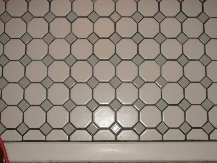 Octagon Dot Tile With Gray Grout Mapei Silver Color