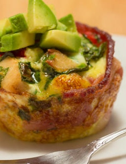 Protein-Packed Bacon Omelet Bites | MensHealth. A little bacon never hurt, especially if it's wrapped around healthy egg whites!