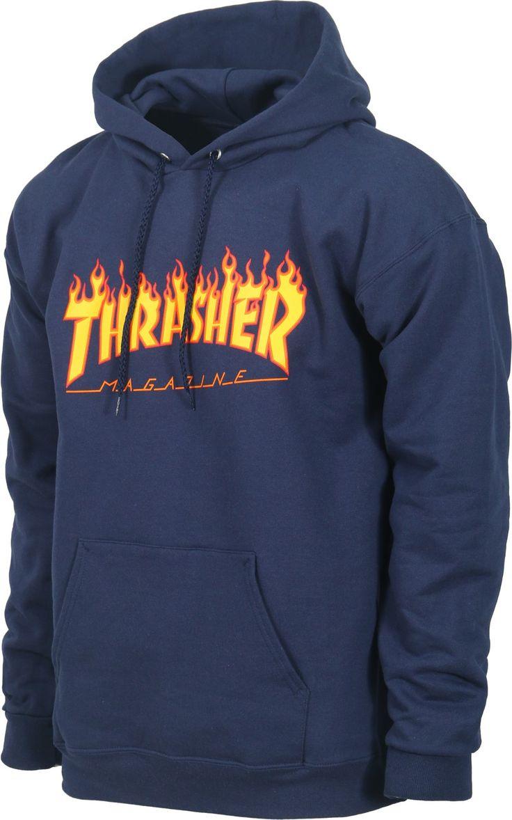Sudadera Thrasher Flame blue disponible en nuestra tienda online de skate.