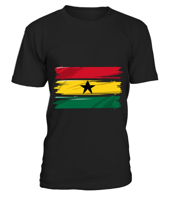 Ghana Africa Vintage Retro Distressed Flag T shirt  Funny World Peace T-shirt, Best World Peace T-shirt