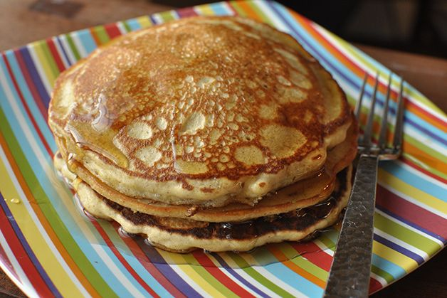 Gluten Free Quinoa Pancakes. These beauties are every bit as fluffy and delicious as their gluten-ful counterpart.   http://www.rachaelray.com/blogs/index.php/2014/01/03/gluten-free-breakfast-quinoa-pancakes/