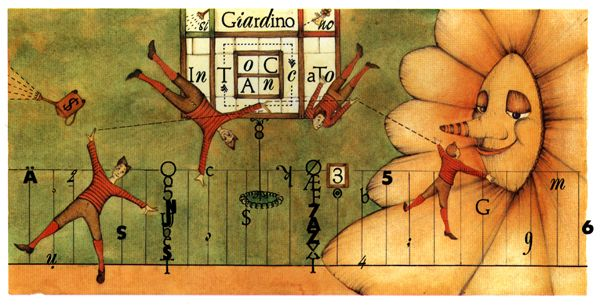 """Germano Ovani illustration for """"Arrivano i Mostri""""."""